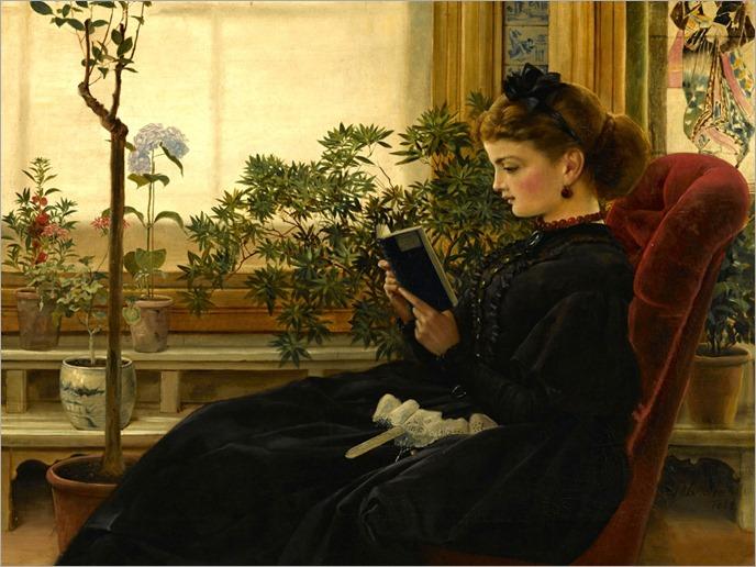 Her favorite pastime (1864). George Dunlop Leslie RA (British, 1835-1921).