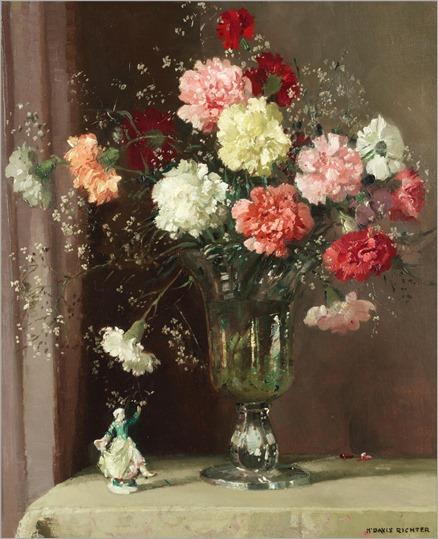 Herbert Davis Richter (1874-1955) Still life with carnations