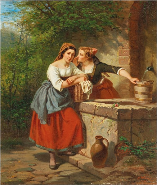 Herman Werner (1816-1905) The love message