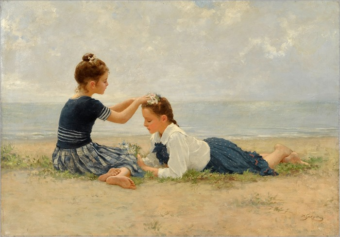Hermann Seeger (1857-1945) - on the beach