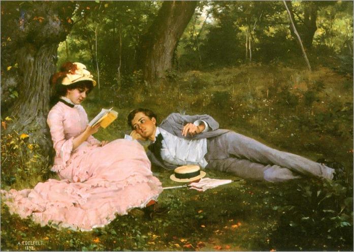 Idyll (1878). Albert Edelfelt (Finnish, 1854-1905)