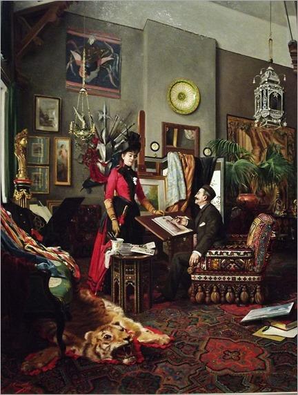 In the Artist's Studio (1889). Édouard-Antoine Marsal (French, 1845-1929). Oil on canvas. Crocker Art Museum
