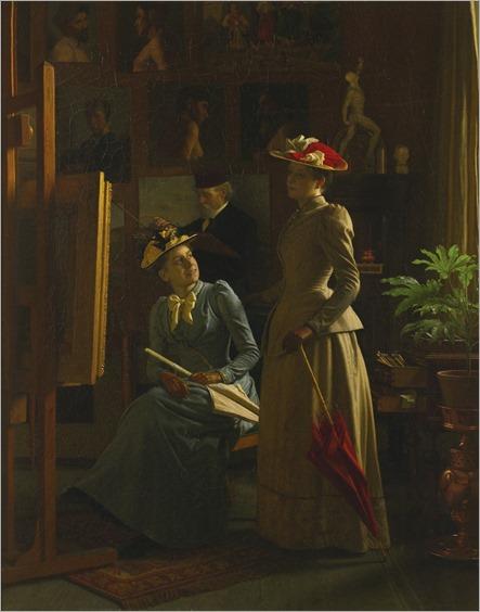 In the Artist's Studio - 1892- Frederik Vermehren(danish painter)