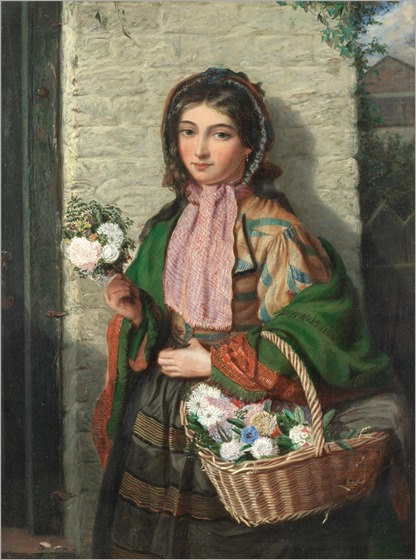 James H.Edgar (active 1860-1870) Flower Girl