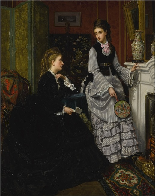 Jan Portielje (1829-1908) Whispered Confidences