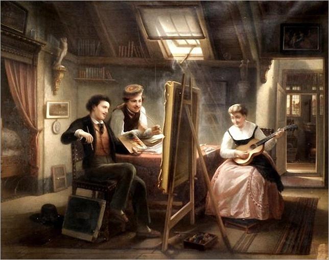 Jozef Cornelius Correns The Artists Studio. 1869