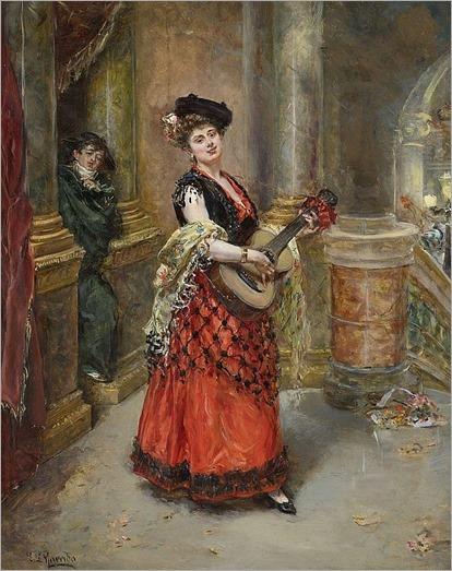 la belle guitariste_Eduardo León Garrido (Spanish, 1856-1949)
