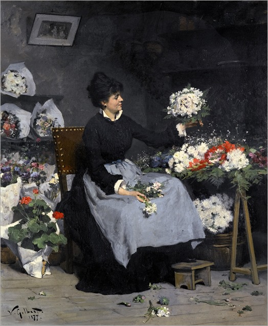la marchande de fleurs_Victor Gabriel Gilbert