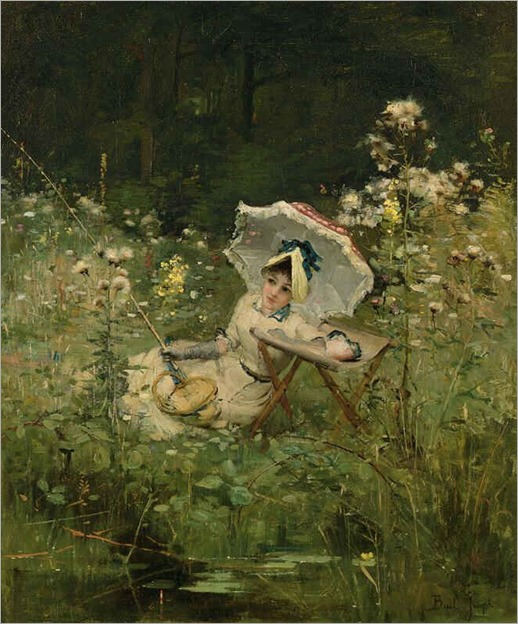 la pecheuse by Claude Joseph Bail - Date unknown