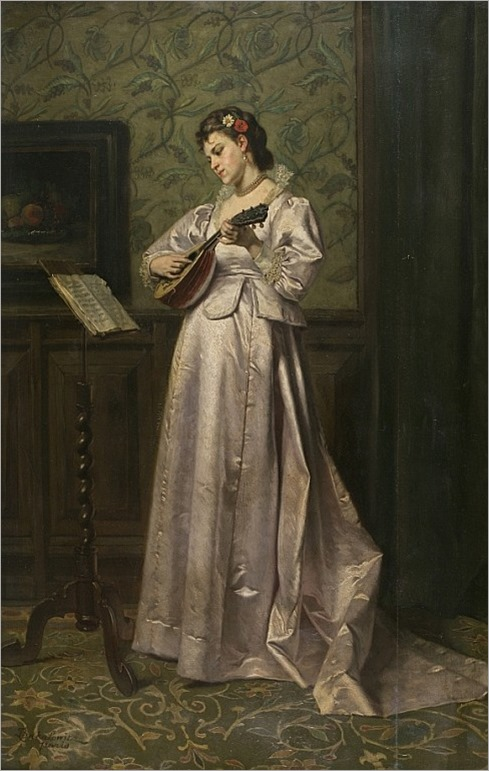 Ladislaus Bakalowicz. Ladies with Mandolin.