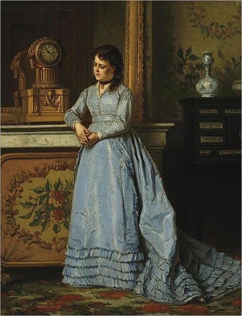 LADISLAUS BAKALOWICZ, POLISH 1833-1904- a beauty in a boudoir
