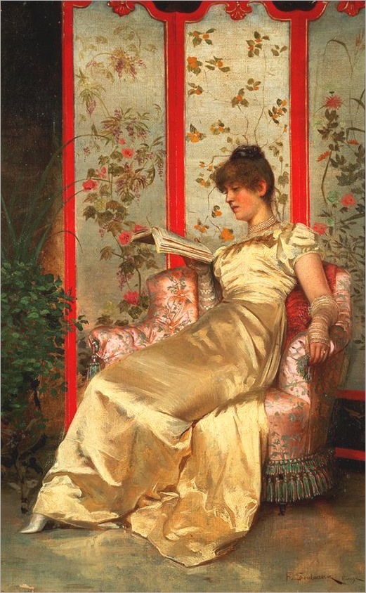 Lady Reading, by Charles Joseph Frederick Soulacroix (French, 1825-1879)