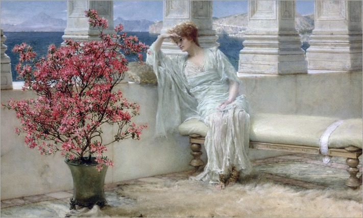 Lawrence Alma-Tadema - 'Her eyes are with her thoughts and they are far away'
