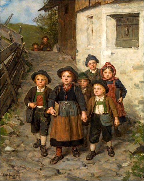 Lorem Franz von Defregger (1835-1921) On the way from school
