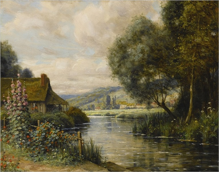 Louis Aston Knight ~ Cottage at Launay
