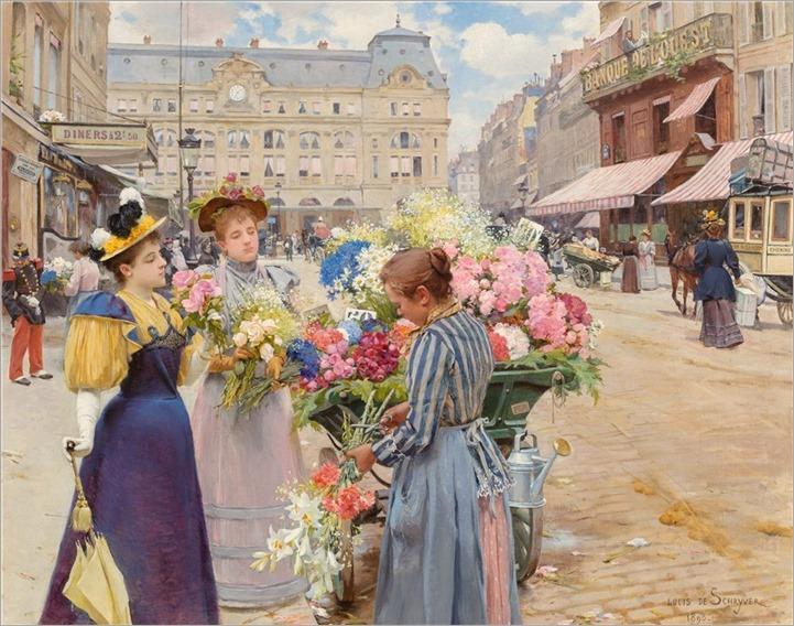 Louis Marie de Schryver (1862-1942) Paris - La rue du Havre. 1893