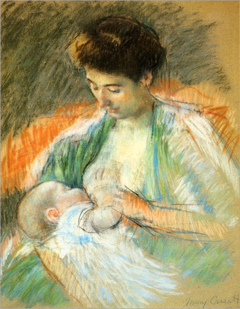 mother-rose-nursing-her-child_Mary Cassatt