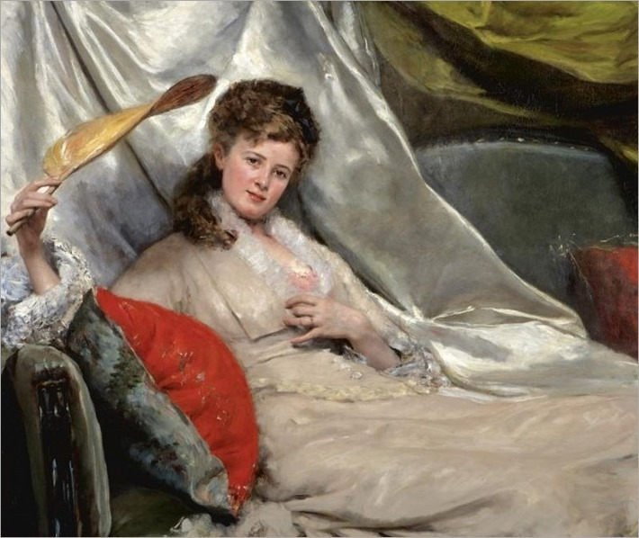 mujer com abanico_Eduardo León Garrido (Spanish, 1856-1949)
