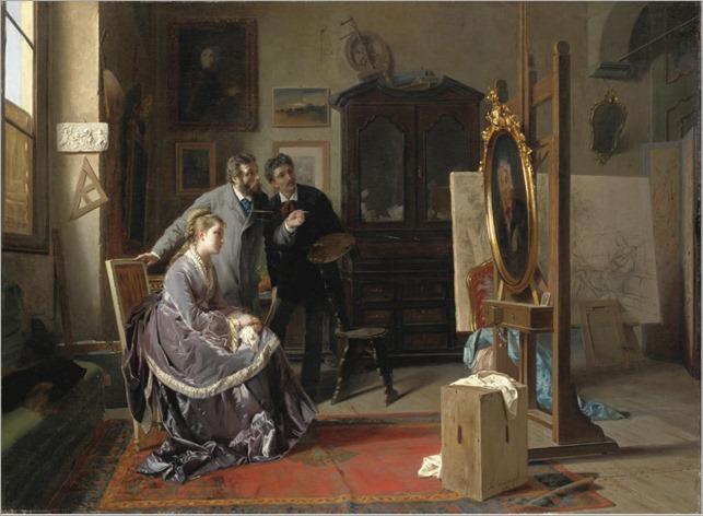 Nello Studio del Pittore (1878). Luigi Bianchi (Italian, 1827-1914)