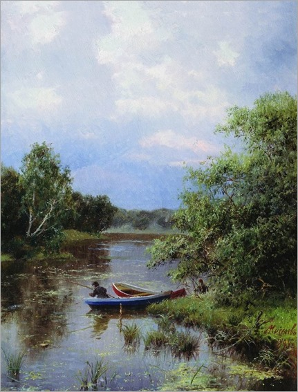 on the lake_Aleksandr Aleksandrovich Kiselev - 1884