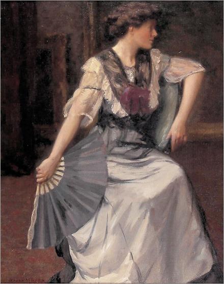 Oscar Miller (1867–1921) Lady with a Fan