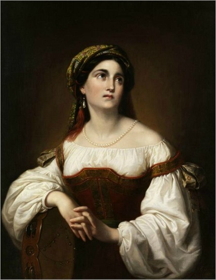 Paul Emil Jacobs (1802-1866) Portrait of Italian woman