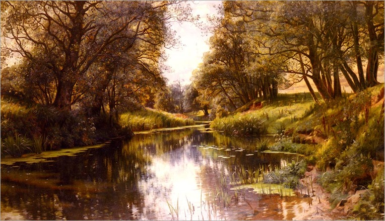 Peder Mork Monsted_A Winding Stream In Summer