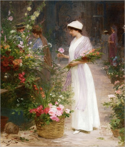 Picking Flowers - Victor-Gabriel Gilbert (french)