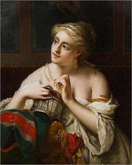 Pierre Olivier Joseph Coomans, (Belgian, 1816-1889), Pompeiian Lady