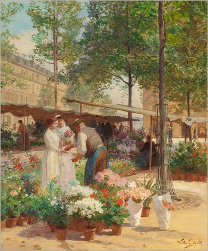 Place de La Republique_Victor Gabriel Gilbert(french, 1847-1933)