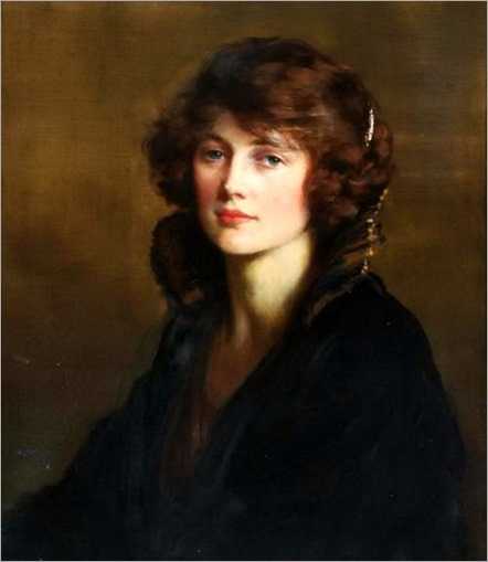 Portrait of a Lady, 'Jenny' (1923). George Percy Jacomb-Hood (British, 1857-1929)
