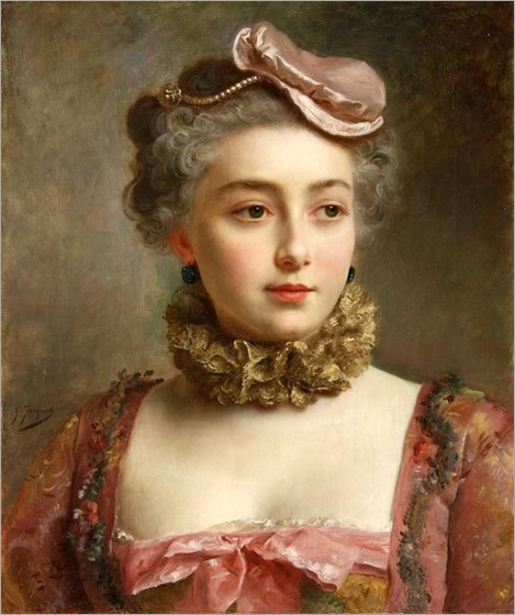 Portrait of a Young Lady - Gustave Jean Jacquet (french painter)