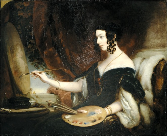 Portrait of Mrs Mary Milnes Gaskell. Attributed to Christina Robertson (Scottish, 1796-1854)