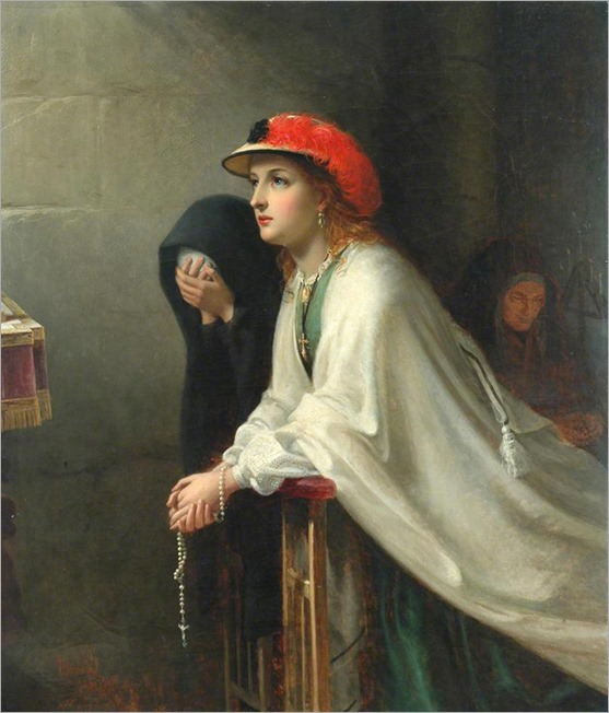 Prayer - 1862 - Thomas Brooks (british painter)
