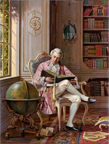 Reading Habit by Alois Heinrich Priechenfried (Austrian, 1867-1953)
