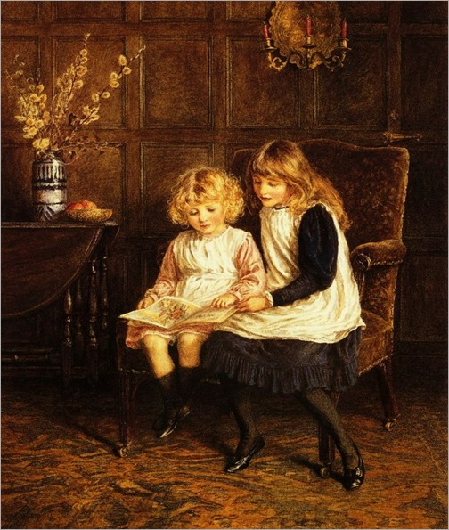 Reading Lesson by Helen Allingham