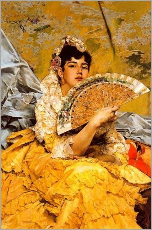 Retrato de Senorita Sevillana by José Villegas Cordero (Spanish 1844-1921