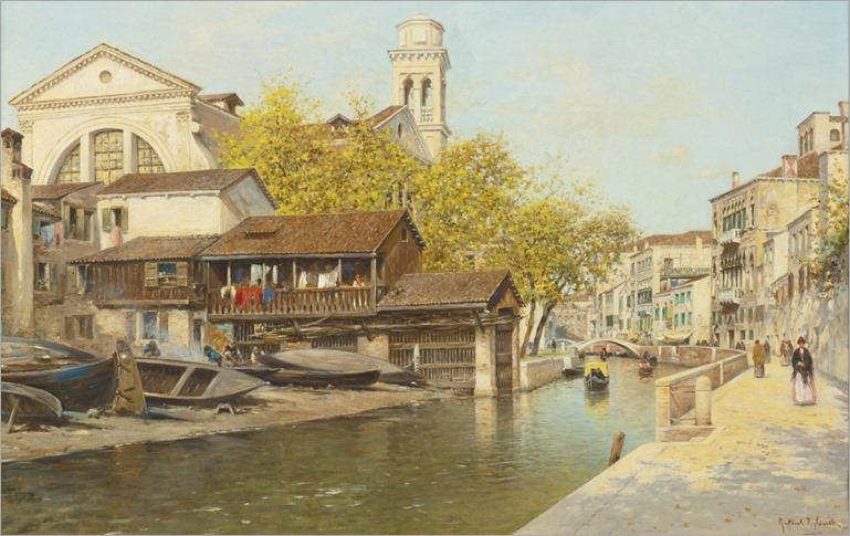 Rio San Trovaso - Rafael Senet (spanish painter)