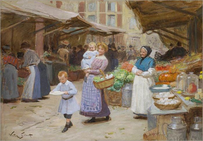 Scène de marché-Victor Gabriel Gilbert
