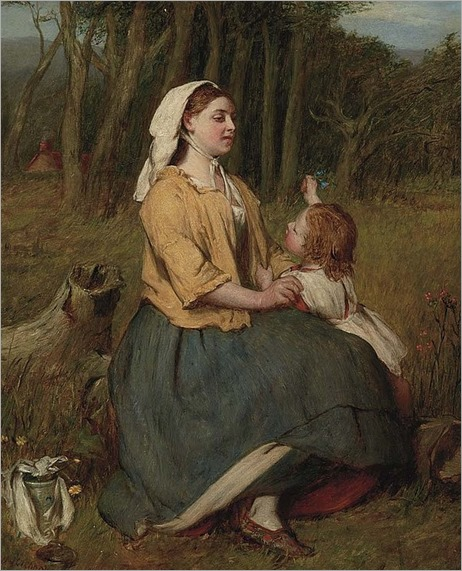 Sir William Quiller Orchardson- british, 1832-1910-a mother´s love
