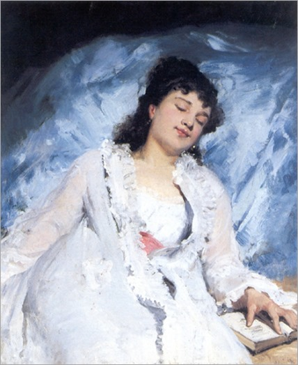 Sweet Repose by Victor-Gabriel Gilbert (French, 1847-1933)