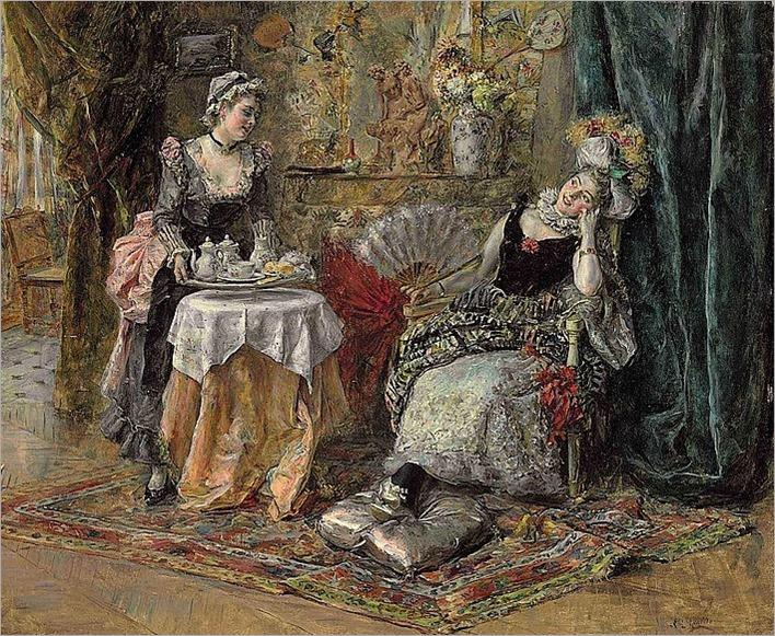 teatime-Eduardo León Garrido Madrid 1856 - Caen 1949
