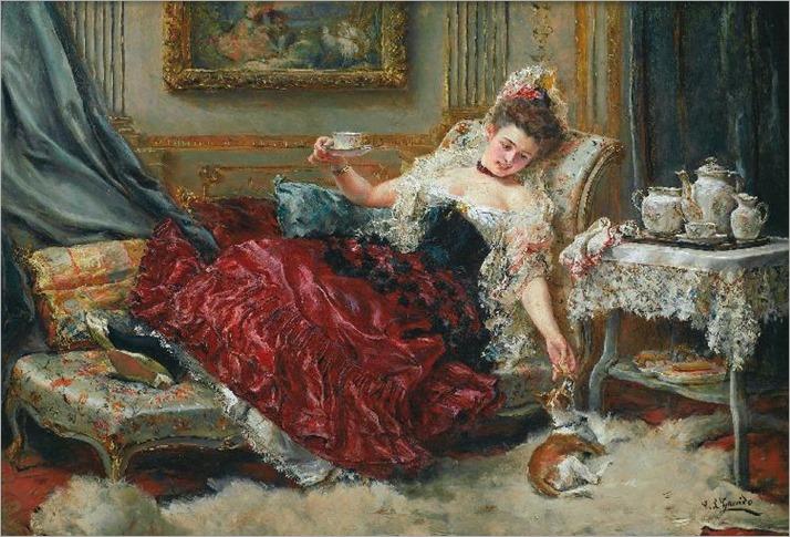 teatime_Eduardo León Garrido (Spanish, 1856-1949)