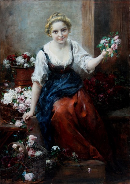 the beautiful flower_seller-Ferdinand Wagner (1847 - 1927)