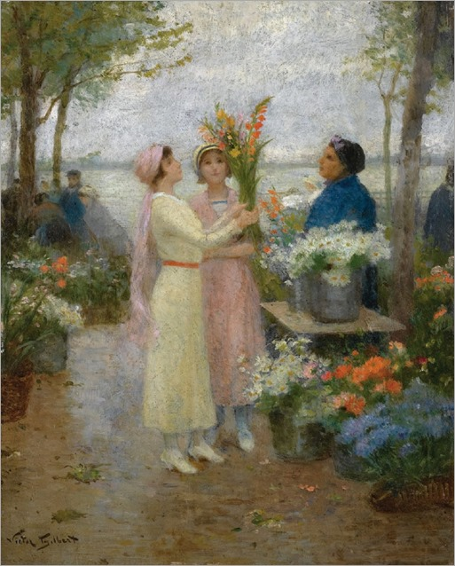The Gladioli - Victor Gabriel Gilbert (french painter)