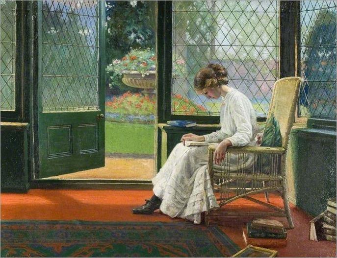 The Library Window. Albert Ranney Chewett (Canadian-born British, 1877-1965)