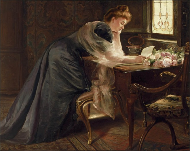 The Love Letter (1903). Ferdinand-Georges Lemmers (Belgian, 1871-1944)
