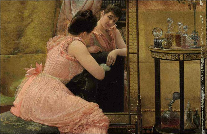 The Mirror by Georges Croegaert, c.1880