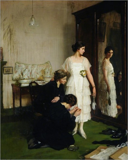 The New Frock - Frederick William Elwell (british painter)