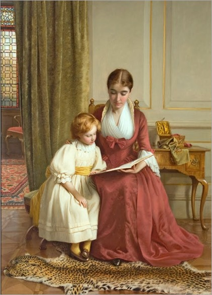 The Reading Lesson (1890). Richard Crafton Green (British painter)